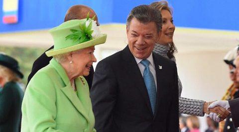 Reina Isabel ll felicita al Presidente Santos por el Nobel de Paz