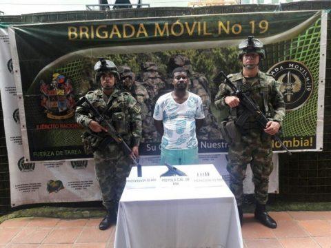 Capturado alias 'Calixto', cabecilla de extorsiones del Eln en Barbacoas, Nariño