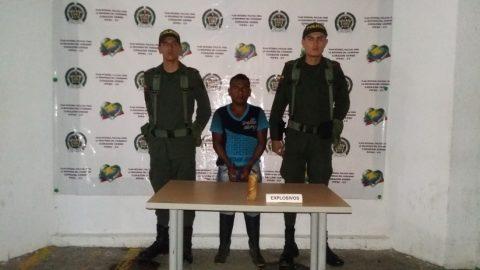 Con una barra de explosivos fue detenido un hombre en Barbacoas, Nariño