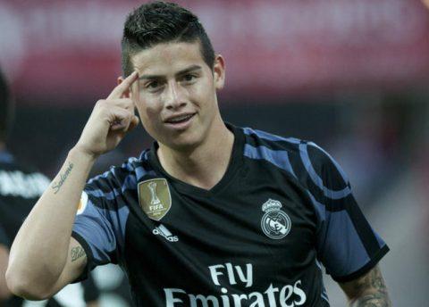 La tímida felicitación de James al Madrid por el triunfo ante el Celta