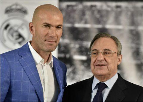 Zidane es nuestro símbolo y el mejor entrenador del mundo: presidente del Madrid