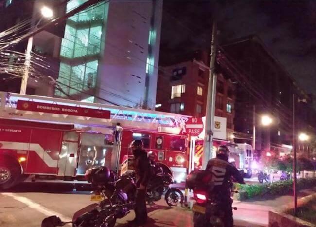 Dos personas lesionadas por explosión de chimenea en Chapinero
