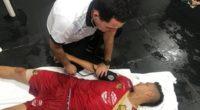 Jugador no aguantó alta temperatura y terminó en la enfermería