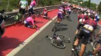 Video: Rigoberto Urán sufrió fuerte caída en la etapa 4 de La Vuelta
