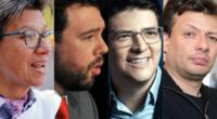 Encuesta Invamer: López, 36,6 %; Galán, 22,8%; Uribe, 22.3%, y Morris, 13,7%