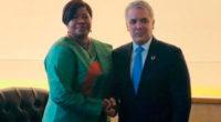 Duque se reunió con fiscal de la CPI, instancia en la que demandó a Maduro