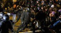 Al menos 74 heridos y 51 detenidos en protestas independentistas en Cataluña