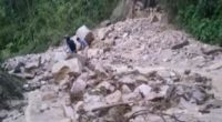 ¡Pendientes! Amanece cerrada la vía entre Curos y Málaga por impresionante derrumbe