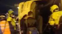 Policía no tiene claro si volcamiento de bus con retenidos en Bogotá fue provocado