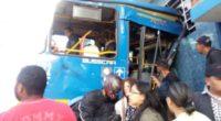 Grave accidente entre dos buses del SITP deja al menos 53 heridos