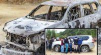 ¡No para el horror! Delincuentes quemaron camioneta de la masacre en Tacueyó