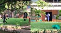"""""""No nos representan, ¡afuera!"""": estudiantes confrontaron a encapuchados en la UdeA"""