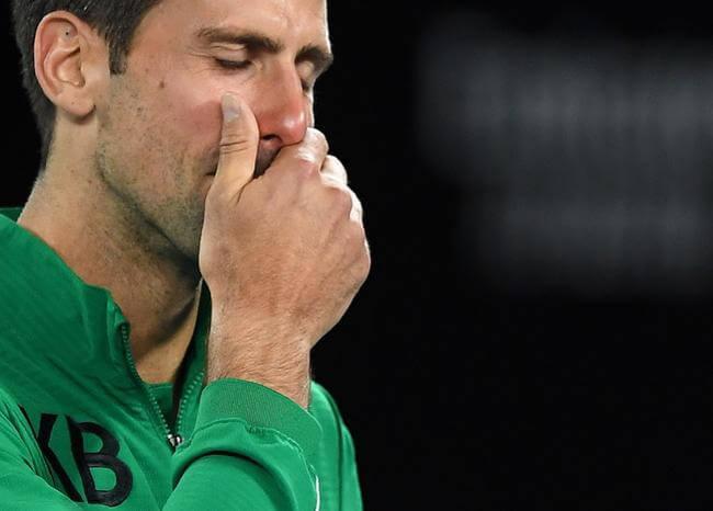 Djokovic rompe en llanto en la Rod Laver Arena al recordar a Kobe Bryant
