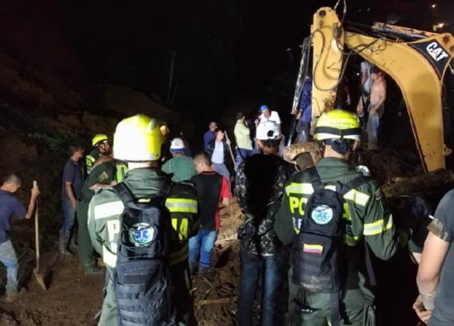 Tres muertos deja derrumbe en Chinchiná, Caldas