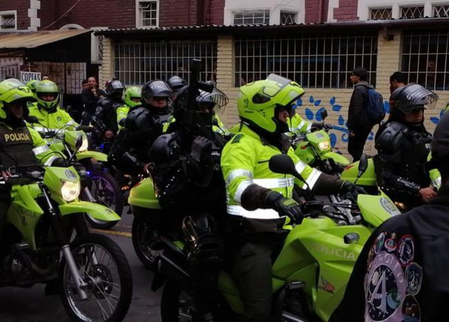 Intensa jornada de manifestaciones se vivió este viernes en Bogotá