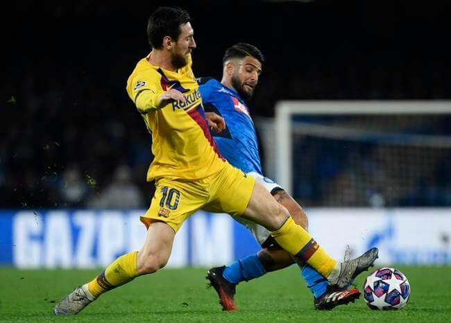 Napoli y Barcelona empatan 1-1 en la ida de octavos de Champions League