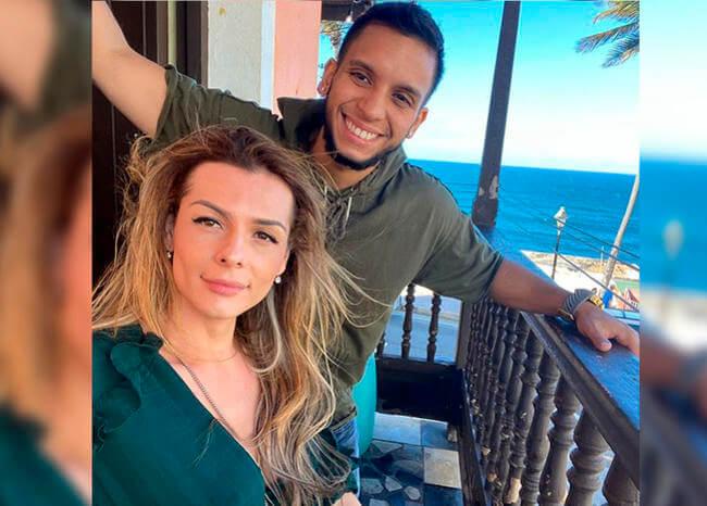 Danna Sultana mostró orgullosa la barriga de su novio porque ya esperan un bebé