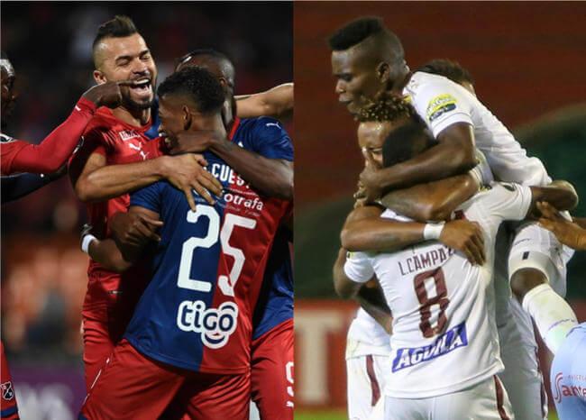¡Iniciaron con pie derecho! El DIM y Tolima ganaron en Copa Libertadores