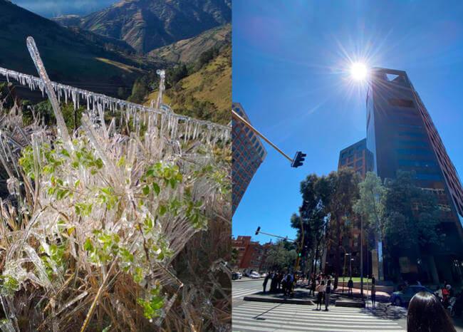 ¿Por qué hace tanto frío por la mañana y calor en la tarde en algunas zonas del país?