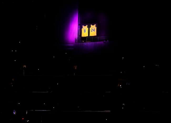 En una emotiva ceremonia, Los Angeles Lakers despidieron a su leyenda Kobe Bryant