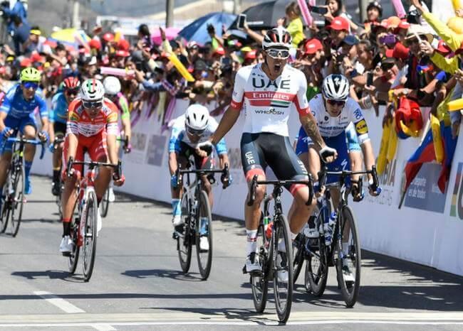 Juan Sebastián Molano se quedó con la segunda etapa del Tour Colombia