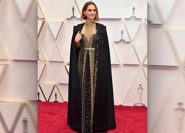 Con su atuendo, Natalie Portman vuelve a protestar por machismo de Hollywood