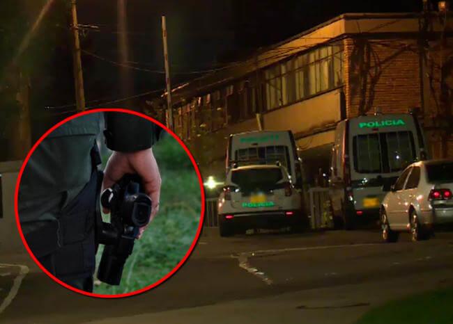 Con un disparo en la cabeza terminó policía en Bogotá mientras hacía polígono