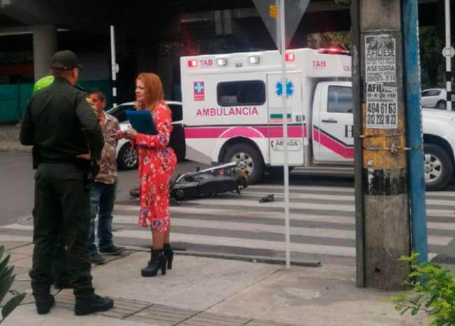 Ambulancia de Amagá habría atropellado a motociclista en medio de diligencia personal