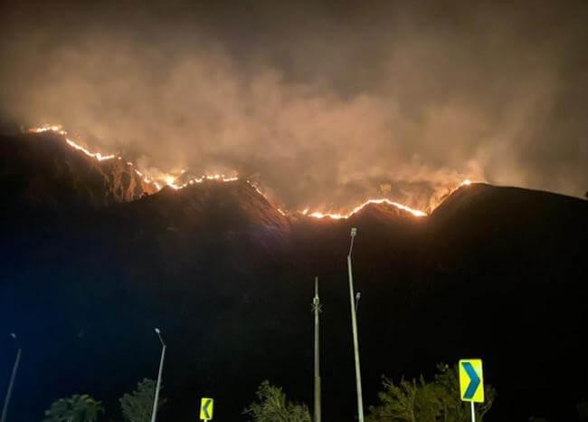 Quince personas lesionadas por incendio en Quetame, Cundinamarca