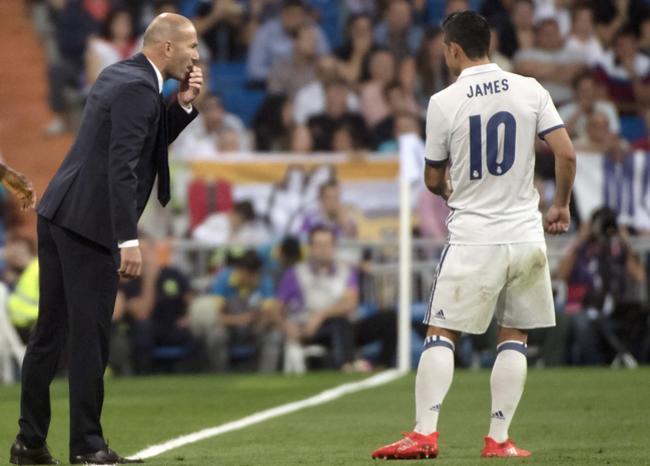 Falta de motivación y de disciplina: las razones del desencanto entre James y Zidane