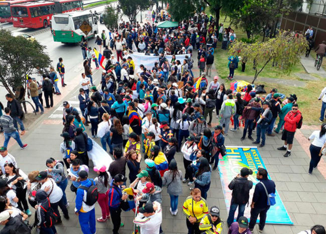 Movilizaciones de marzo no se podrán realizar por alerta amarilla en Bogotá