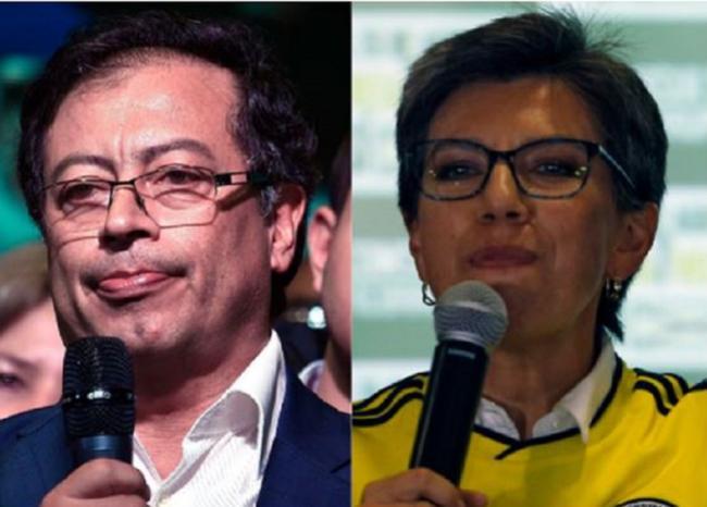 Claudia López 'peinó' a Petro en redes por recuperación del San Juan de Dios