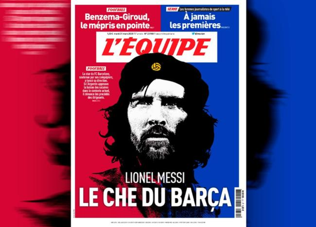 Polémica en redes por portada de L'Équipe que compara a Messi con el Che Guevara
