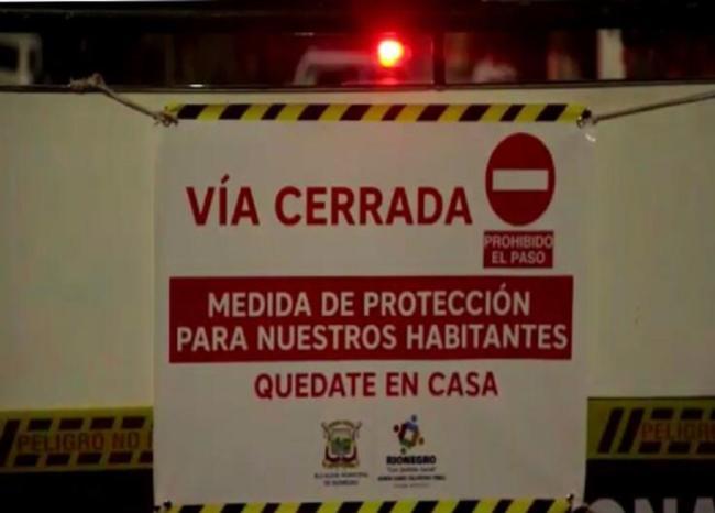 Cierran vías del municipio de Rionegro, Santander, para evitar llegada de viajeros