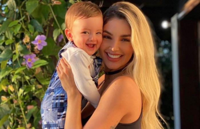 Melina Ramírez derrite a sus seguidores con video de su hijo haciendo pucheros