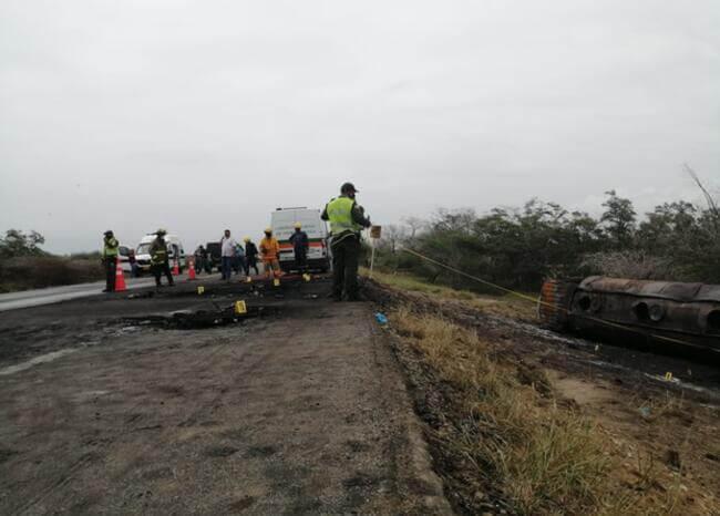 Se eleva a 38 número de fallecidos tras explosión de camión cisterna en Tasajera