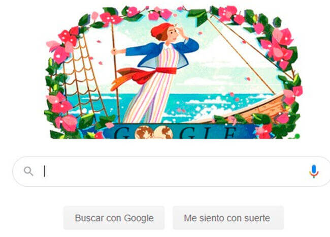 Google homenajea a Jeanne Baret, la botánica que dio la vuelta al mundo