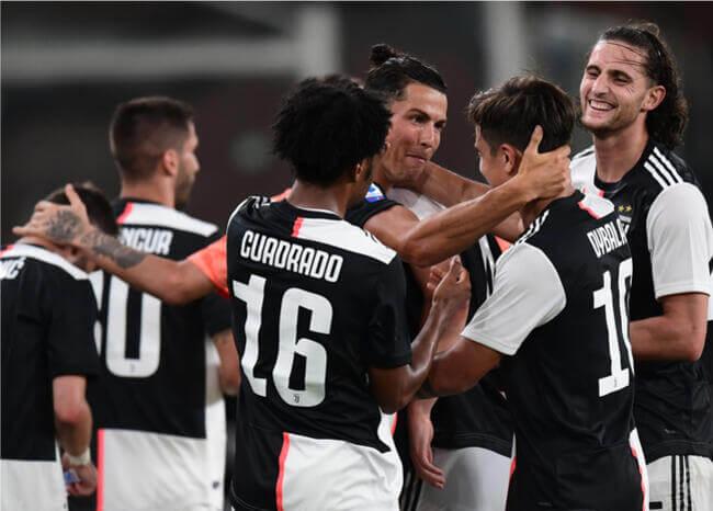 Asistencia de Cuadrado y golazos de Dybala y Cristiano en nueva victoria de Juventus