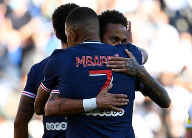 La dupla Neymar-Mbappé, imparable en juego amistoso del PSG ante Celtic