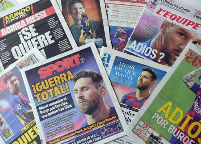 Así reaccionó la prensa deportiva mundial a la decisión de Lionel Messi