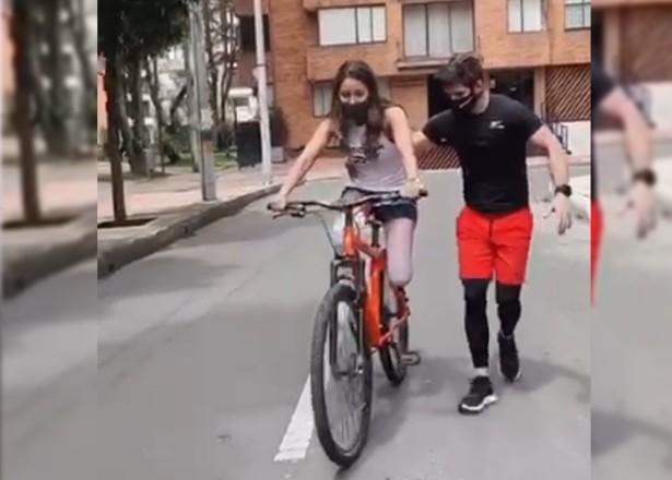 ¡Imparable! Daniella Álvarez mostró lo duró que fue volver a montar bicicleta