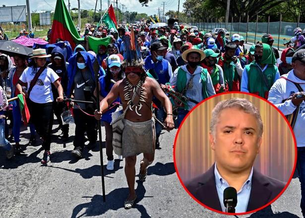 Minga indígena quiere hacerle un debate político a Iván Duque: consejero mayor del CRIC
