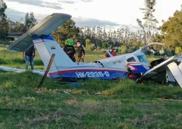¡Milagro! Estable bebé que sobrevivió a la caída de una avioneta en Ubaté