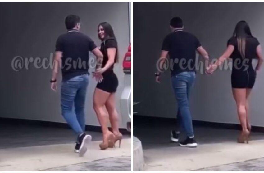 ¿Entraron a un motel? El sospechoso video de Yeison Jiménez y Esperanza Gómez tomados de la mano