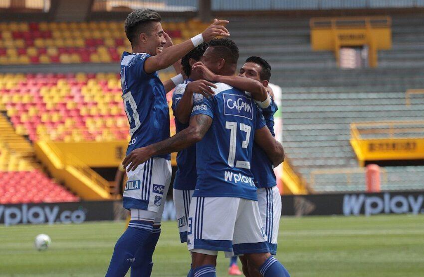 Millonarios sufrió, pero venció 3-2 a Deportivo Pereira en la liga colombiana